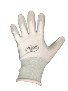 Atlas White Gloves Light Weight Nitrile Palm - Large