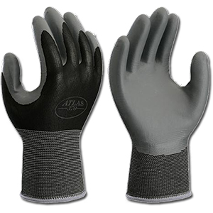 Atlas Lightweight Nitrile Gloves (Black/Gray) - Large