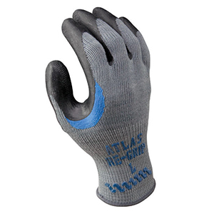 Atlas Re-Grip 330 Bulk Gloves with Black Rubber Palm - L