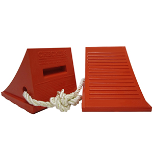 UC 1500-6-P Wheel Chock (with Rope)