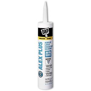 ALEX PLUS Acrylic Latex Caulk Plus Silicone (Crystal Clear) - 10.1 oz