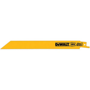 DeWALT Bi-Metal Strait Back Reciprocating Saw Blade - 6