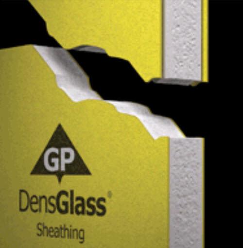 1/2 in x 4 ft x 8 ft DensGlass  Gold Sheathing - Georgia Pacific