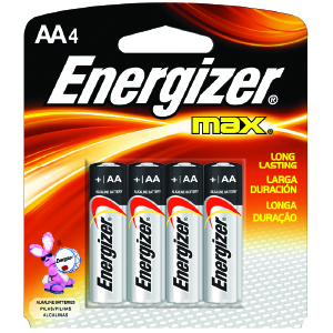 Energizer® MAX® AA Batteries (4)