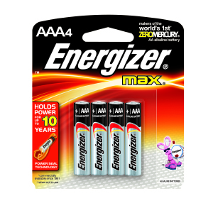 Energizer® MAX® AAA Batteries (4)