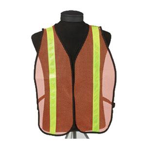Orange Safety Vest with Reflective Stripes