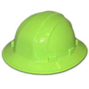 Omega II Full Brim Hard Hat Lime with Quick Slide