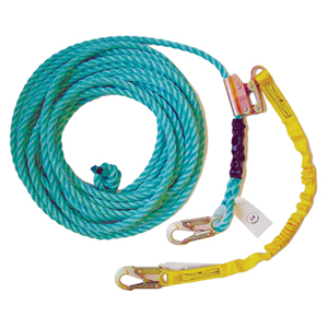 50' Vertical Lifeline Assembly w/ Shock Pack, Positioning Device & 18