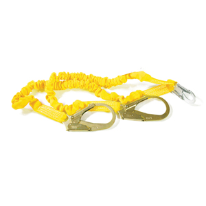6' Internal Shock Lanyard - Double Leg w/ Rebar Hooks