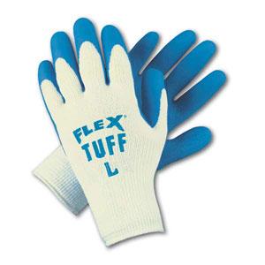 Flex Tuff Blue Latex Coated Gloves - Large