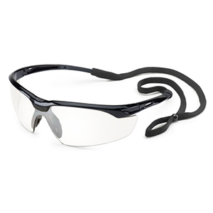 Conqueror Black Frame Clear Lens with Lanyard