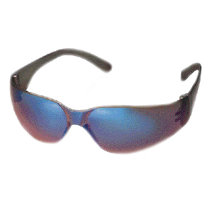 Starlite Safety Glasses - Gray Temple, Gold Lens