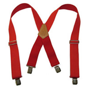 Extra Wide Heavy Duty Suspenders - Red