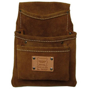 3-Pocket Professional Suede Leather Drywall Bag
