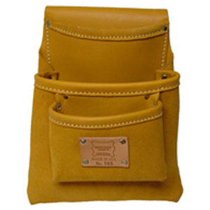 3-Pocket Professional Moccasin Leather Drywall Bag