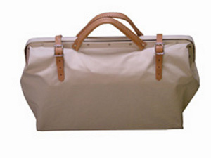 Heavy Duty Canvas Tool Bag - Leather Handle
