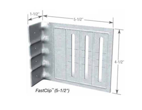 1 7/8 in x 8 in x 4 3/4 in x 14 Gauge ClarkDietrich EXTENDED FastClip FCEC Slide Clip