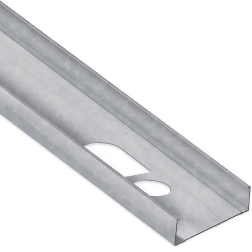 6 in x 8 ft x 18 Gauge 43 mil Structural Steel Stud w/ 1 5/8 in Flange