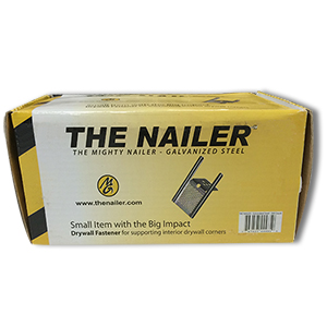 The Mighty Nailer - Galvanized Steel Drywall Backer (200/Box)