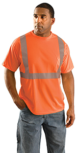 Classic Standard Wicking Birdseye T-Shirt - Orange XL