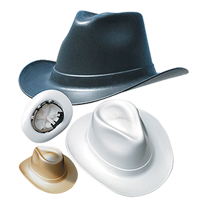 Cowboy Style Hard Hat (Ratchet Suspension) - White