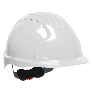 Evolution Deluxe 6151 Standard Brim Hard Hat - White