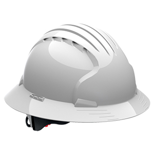 Evolution Deluxe 6161 Full Brim Hard Hat - White