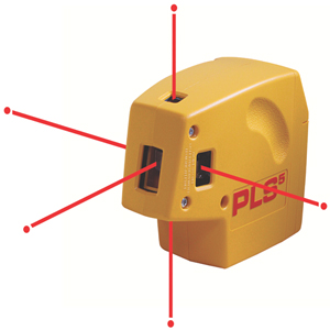 100-feet Self-Leveling 5-Point Laser