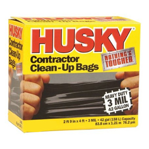 Husky 3mil, 42 Gallon Contractor Clean-Up Bags