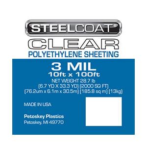 3 MIL Clear Plastic Sheeting - 10' X 100'