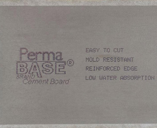 1/4 in 3 ft x 5 ft PermaBase® Cement Board - National Gypsum
