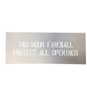 Two Hour Firewall Stencil