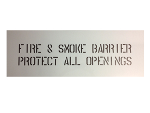 Fire and Smoke Barrier Stencil