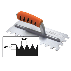 Kraft V-Notch Trowel Proform Handle 3/16