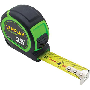 High Visibility Measuring Tape 25'