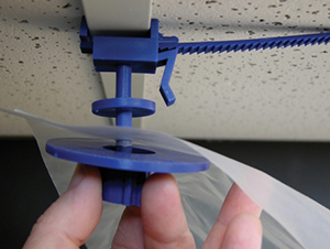 Clip and Snap T-Bar Fasteners - Blue