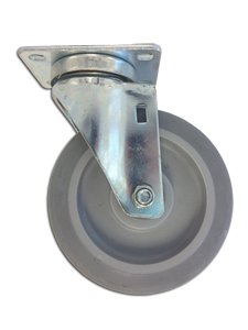 Small Rubber Caster for 1/2 Cubic Yd. Trash Truck