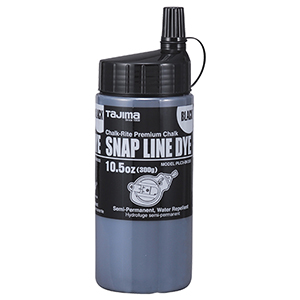 Black semi-permanent  snap-line chalk, 10.5 oz