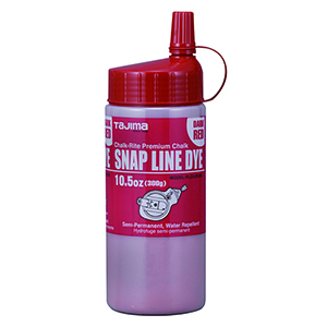 Dark Red semi-permanent  snap-line chalk, 10.5 oz