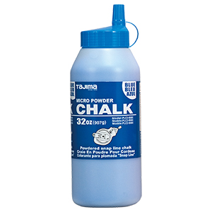 Blue ultra-fine powdered chalk, 32 oz