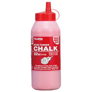 Red ultra-fine powdered chalk, 32 oz