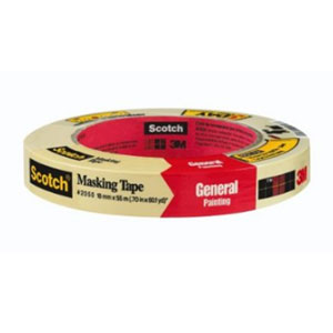 3M 2050 Scotch Masking Tape for General Painting - 1 1/2