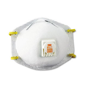 3M 8511 Particulate Sanding Respirator - 10 pack