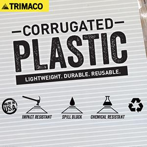 4mm Corrugated Plastic Sheets - 48