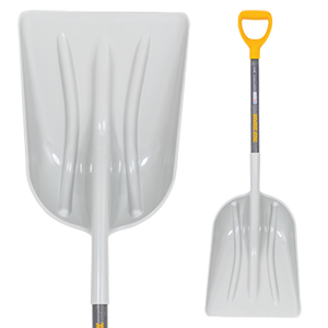 #12 Poly Scoop with D-Grip on Hardwood Handle