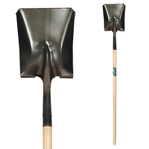 Square Point Shovel with Wood Handle