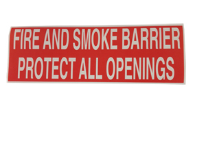 Fire And Smoke Barrier  Warning Label [50]
