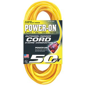 """Power-On"" Temp-Flex-35 Extension Cord - 50'"