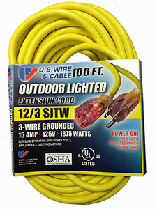"""Power-On"" Temp-Flex  Extension Cord - 100'"