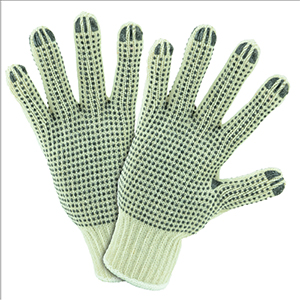 String Knit Gloves w/ PVC Dots - One Size